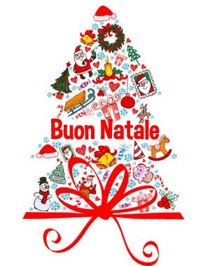 Buon natale for Cartoline di auguri per natale