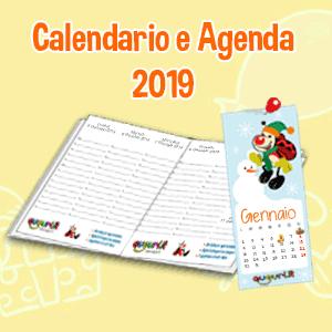 Gratis l'originale calendario 2019 da appendere e l'Agenda Settimanale di Auguri.it!