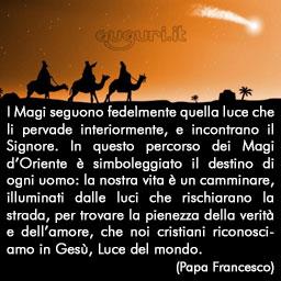 Frase Di Papa Francesco Per Lepifania