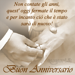 Matrimonio blog anniversario matrimonio amore for Auguri per 25 anniversario di matrimonio